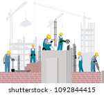 vector illustration of six... | Shutterstock .eps vector #1092844415