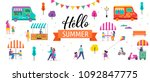 summer fest  food street fair ... | Shutterstock .eps vector #1092847775