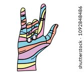 color decorate hand with rock... | Shutterstock .eps vector #1092848486