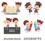 vector illustration of education | Shutterstock .eps vector #1092848795