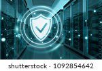 white and blue firewall... | Shutterstock . vector #1092854642