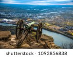 Point Park Civil War Cannon Monument on Lookout Mountain near downtown Chattanooga Tennessee