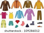 men clothing collection   color ... | Shutterstock .eps vector #109286012