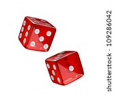 vector illustration of two dices | Shutterstock .eps vector #109286042