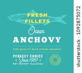 fresh fillets premium quality...   Shutterstock .eps vector #1092875072
