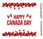 happy canada day card ... | Shutterstock .eps vector #1092879932