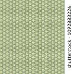 green geometric pattern in... | Shutterstock . vector #1092883226