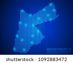 pixel mosaic glow blue dot map... | Shutterstock .eps vector #1092883472