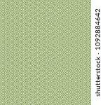 green geometric pattern in... | Shutterstock . vector #1092884642