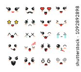 vector illustration set of cute ... | Shutterstock .eps vector #1092892898