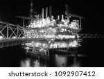 offshore oil and gas platform... | Shutterstock . vector #1092907412