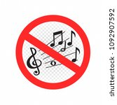 no music sound sign symbol icon ... | Shutterstock .eps vector #1092907592