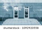 entrance of the modern business ... | Shutterstock . vector #1092920558