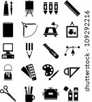 icons of graphic and plastic... | Shutterstock .eps vector #109292216