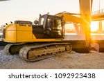 construction of street of new... | Shutterstock . vector #1092923438