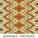 ikat seamless pattern. vector... | Shutterstock .eps vector #1092924422