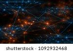 electricity cyber web online...   Shutterstock . vector #1092932468