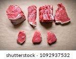 steak meat. beef. high quality... | Shutterstock . vector #1092937532