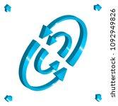 set of 3d arrow vector icons.... | Shutterstock .eps vector #1092949826