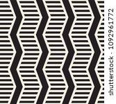 vector seamless zigzag line... | Shutterstock .eps vector #1092961772