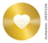 gold record with blank heart... | Shutterstock .eps vector #1092971246