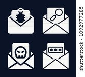 email icon set   filled... | Shutterstock .eps vector #1092977285