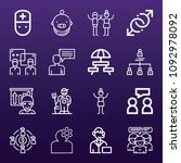 people icon set   outline... | Shutterstock .eps vector #1092978092
