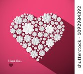 i love you concept with big... | Shutterstock .eps vector #1092984392