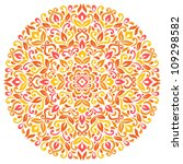 floral background. ornamental... | Shutterstock .eps vector #109298582