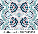 geometric folklore ornament.... | Shutterstock .eps vector #1092986018
