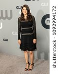 Small photo of New York, NY - May 17, 2018: Melonie Diaz wearing dress by Diane von Furstenberg attends 2018 CW network Upfront at London Hotel