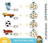 matching education game for...   Shutterstock .eps vector #1092998996