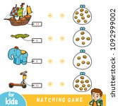 matching education game for...   Shutterstock .eps vector #1092999002