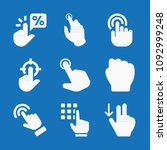 filled set of 9 gestures icons...   Shutterstock .eps vector #1092999248