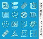 interface related set of 16... | Shutterstock .eps vector #1093000475