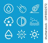 weather related set of 9 icons... | Shutterstock .eps vector #1093002572