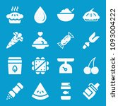 food related set of 16 icons... | Shutterstock .eps vector #1093004222