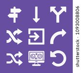 filled set of 9 arrows icons...   Shutterstock .eps vector #1093008806