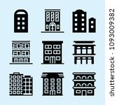 filled set of 9 apartments... | Shutterstock .eps vector #1093009382