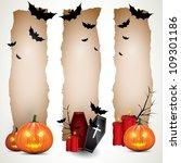 halloween vertical banners   Shutterstock .eps vector #109301186