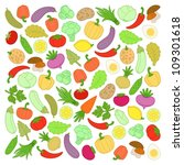 vegetables | Shutterstock .eps vector #109301618