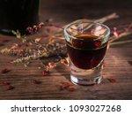 shot of alcoholic beverage on... | Shutterstock . vector #1093027268