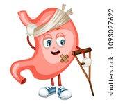 cartoon illustration of a sad... | Shutterstock .eps vector #1093027622