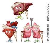 cartoon illustration of sad... | Shutterstock .eps vector #1093027772