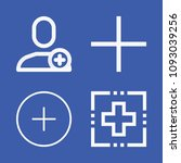set of 4 add outline icons such ... | Shutterstock .eps vector #1093039256
