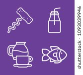 set of 4 food outline icons... | Shutterstock .eps vector #1093039946