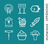 set of 9 food outline icons... | Shutterstock .eps vector #1093042442