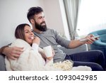 young couple relaxing in their...   Shutterstock . vector #1093042985