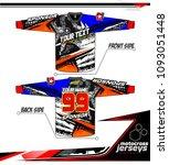 long sleeve motocross jerseys t ... | Shutterstock .eps vector #1093051448