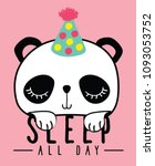 cute panda  sweet character... | Shutterstock .eps vector #1093053752